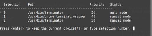 change default terminal emulator