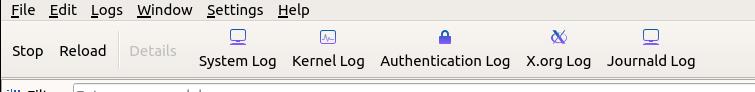 ksystemlog logs available